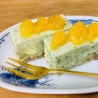 パセリの豆腐レアチーズケーキ風🍰