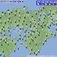 4月22日 アメダスと天気図。
