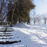 雪色階段をゆく。