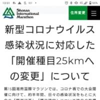 いまさらですが、湘南国際マラソンについてアナウンスがあった件