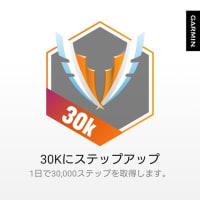 3万ステップのバッジ(1日で3万歩) #Garmin #ガーミン