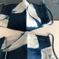 藍染め手作りマスク