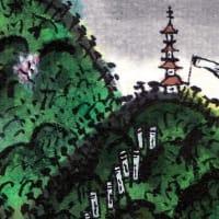 光岩島日月春景図月之部(再)