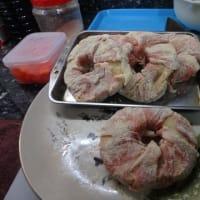 第2弾:ウェットマーケットの豚肉しゃぶしゃぶで「鬼しゃぶドーム焼き」から「車麩の肉巻きドミソース」