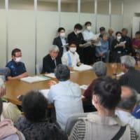 本部塩川港のベルトコンベア設置、安和旧桟橋の撤去問題で沖縄県と交渉 --- 50名を超える参加者が県を追及