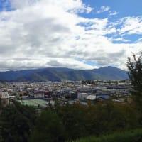 【台風19号(ハギビス):2019】 不気味な青空@稲荷山公園