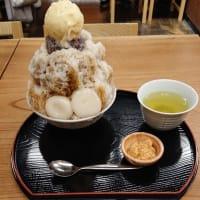 雀おどり總本店 大島金時ミルククリーム白玉きな粉氷