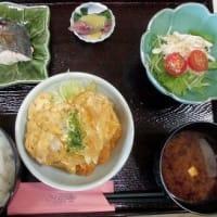 1210) 松幸日替わりランチ ~カツとじ/ツバスの塩焼き/ホタルイカの酢味噌和え/ムネ肉のサラダ
