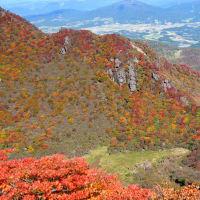 くじゅう三俣山 大鍋小鍋の紅葉状況(速報) 2019年10月22日 最盛の紅葉でした。
