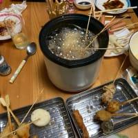 串カツパーティーでした。