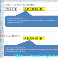 Excel Today()関数が新元号「令和」に対応できない場合用に
