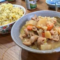 もつ煮と納豆汁