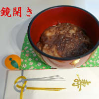 令和初の鏡開き、お汁粉作ったよ! (着ぐるみお汁粉は昨年版)/ I made soup flour o-shiruko (sweet red-bean soup with mochi)