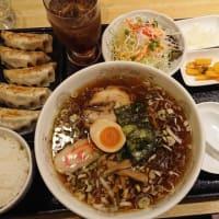 CAMOーME ラーメン・餃子・半ライスセット@上田市
