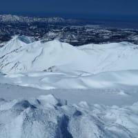 2021.02.28 月山 石跳川のコル~姥ヶ岳~東斜面~南斜面