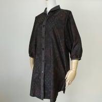 大島紬の着物から・ヘチマ衿ブラウス