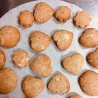 ココアのさっくりクッキー作りました💙💙