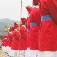 景福宮の交代式、赤が鮮やか🇰🇷🇰🇷