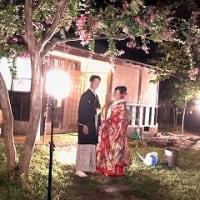 古民家での夜の結婚式