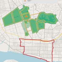 ミャンマーのヤンゴンの緑地、1人あたり0.4平方m。