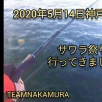 2020年5月14日 神戸沖堤防で魚釣り。サワラ祭りに参加してきました。