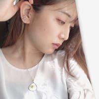 【伝統工芸品 七宝焼】ネックレス なつめ型 純銀七宝 オフホワイト