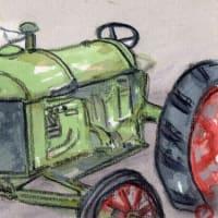 「絵手紙もらいました-トラクター-」について考える