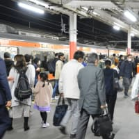 夕方の混雑、、【西国分寺駅:武蔵野線】 2020.NOV