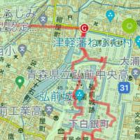 鯵ヶ沢 から  クロクマの滝    弘前城跡