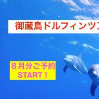 御蔵島ドルフィンツアー8月分ご予約START!