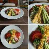 男の料理~我が家の昼ごはんは、たれ(醤油味)から作った冷やし中華~