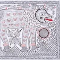 繊細で素朴な世界観 インドの民族アート90点を一堂に展示