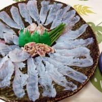 オニ鍋と刺身で食す