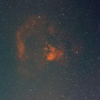 ニワトリで淡い星雲を狙うも