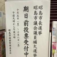 昭島市はダブル選挙