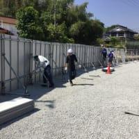 2mの塀を作っています。(笑)