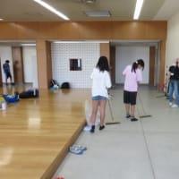 校庭キャンプ2日目