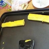 ダチョウの卵 焼いちゃいました