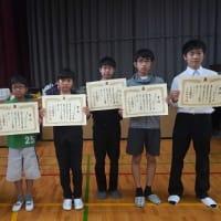 倉敷王将戦と中学選抜の結果