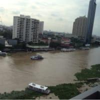 チャオプラヤ川の上流で嵐か?