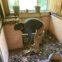 茨城県 取手市 在来タイル貼り 浴室の解体