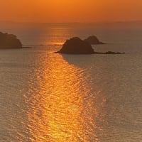 不知火海の夕景