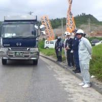 安和の海上抗議行動は中止/塩川で土砂積み込みに抗議