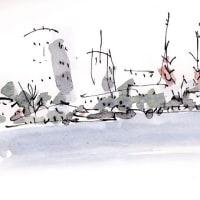 川沿いの寺院(写真)