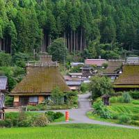 京都・美山の「かやぶきの里」へ