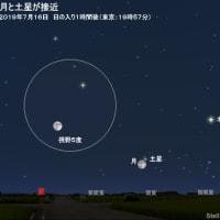 晴れるかな~? 月と木星・土星が接近 (・_ ・)ジーッ