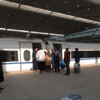 中国高速鉄道故障で乗り換え 2018年02月