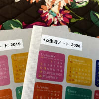 【2020・手帳の下準備(17)】  「+α生活ノート」、今が記入し時!