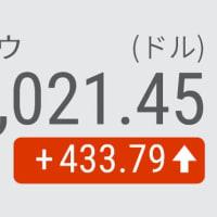 13日 NYダウ平均 反発433ドル高 長期金利の上昇一服で