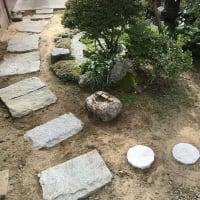 庭作り63日本庭園編(25)・・つくばいを置く。